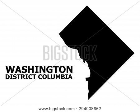 Vector Map Of District Columbia With Name. Map Of District Columbia Is Isolated On A White Backgroun