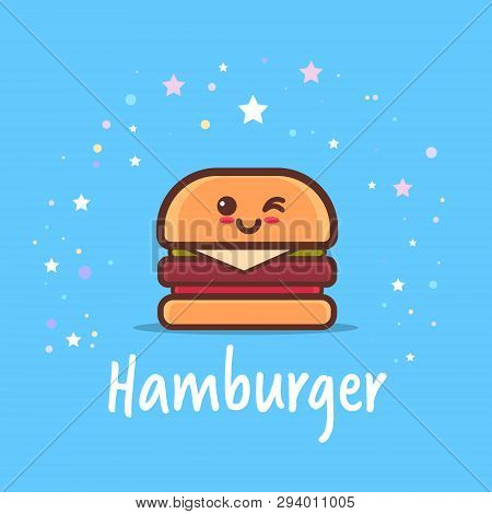 Cute Hamburger Vector Photo Free Trial Bigstock