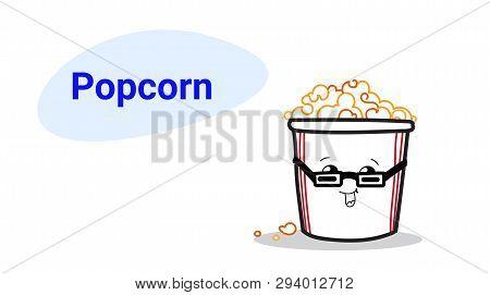 Cute Pop Corn Cartoon Vector Photo Free Trial Bigstock