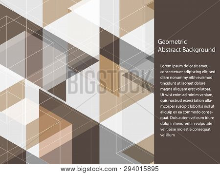 Beautiful Classic Black, Grey, Brown And White Polygon Shape In Minimal Modern Trendy Geometric Conc