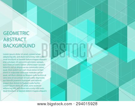 Beautiful Classic Neon Blue Colors And White Polygon Shape In Minimal Modern Trendy Geometric Concep