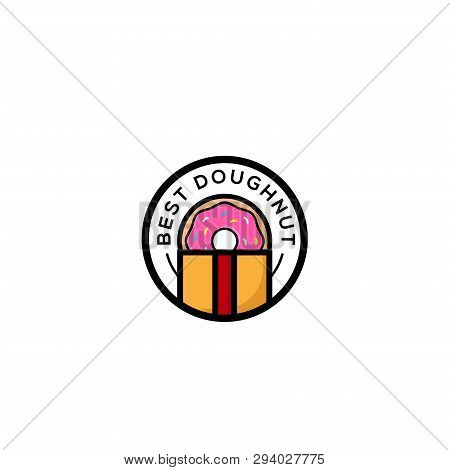 Donut. Donuts. Donuts icon. Donuts vector. Donuts logo vector. Sweet Donuts logo. Donuts symbol. Donuts vector icon. Donuts design illustration. Donuts icon isolated flat on white background. Donuts simple design for logo, web, app, UI.