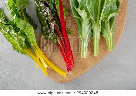 Beet Greens Leaf Of The Beetroot Plant Typicaly Food For Diet Poor In Fat