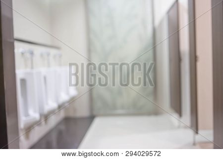Blurred Bathroom Interior Background. For Product Display Montage.