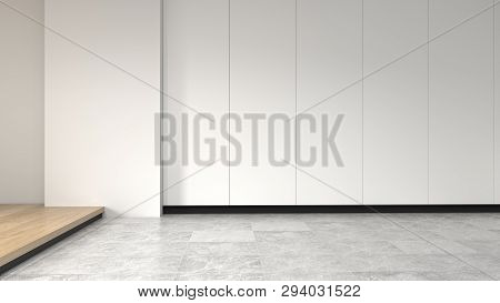 Empty Room No Have Sofa In Front Of Simple Clean White Wall With Decorative Items Empty Room,open Do
