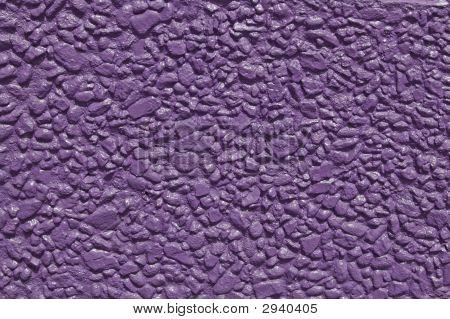 Purple Painted Stone Wall