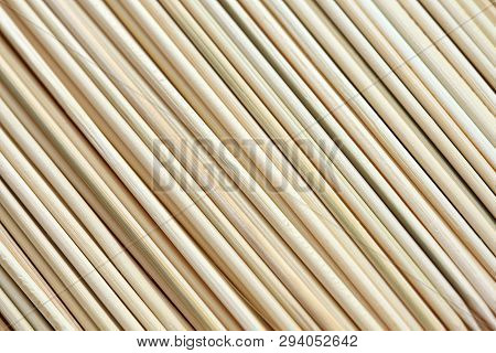 Bamboo Sticks Background. Full Frame. Close Up.