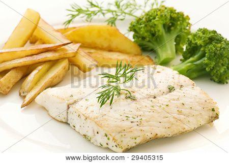 Barramundi Fillet with Chips
