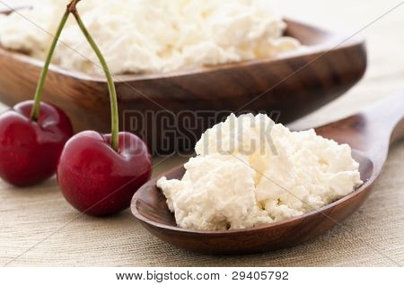 White Cheese with Cherry