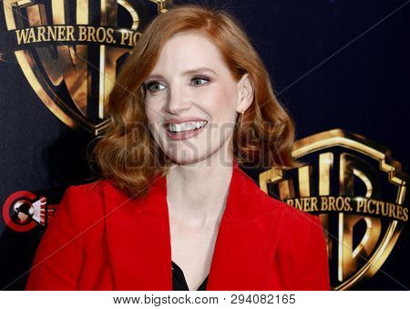 Jessica Chastain at the 2019 CinemaCon - Warner Bros. Pictures 'The Big Picture' Presentation held at the Caesars Palace in Las Vegas, USA on April 2, 2019.
