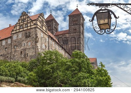 Castle And Collegiate Church Of St. Servatius On The Schlossberg, Quedlinburg, Saxony-anhalt, German