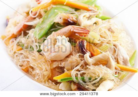 Pad woon sen with shrimps poster