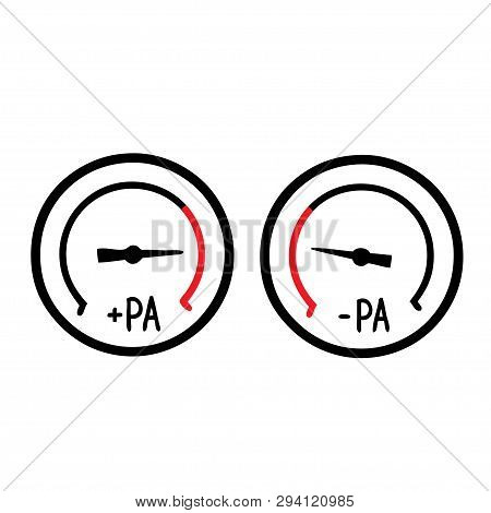 Negative And Positive Differential Pressure Meter - Room Pressurization Monitoring. - Cleanroom Icon