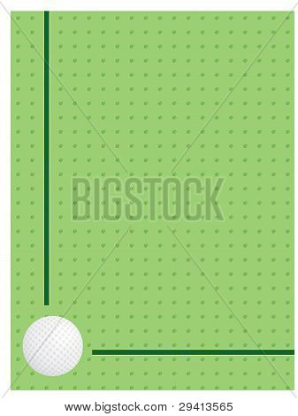 Background With Golf Ball