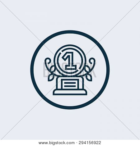 Trophy Icon On Gray Background. Flat Style. Trophy Icon For Your Web Site Design, Logo, App, Ui. Tro