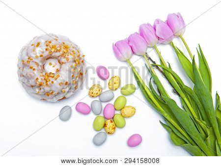 Happy Easter Isolated On The White Background