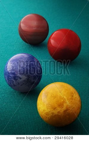Billiard balls and planets