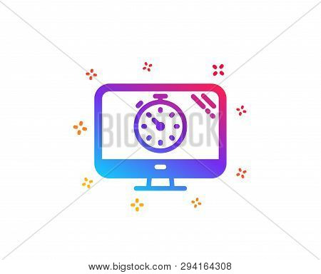 Seo Timer Icon. Search Engine Optimization Sign. Analytics Symbol. Dynamic Shapes. Gradient Design S