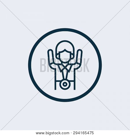 Victory Icon Isolated On White Background. Victory Icon Simple Sign. Victory Icon Trendy And Modern