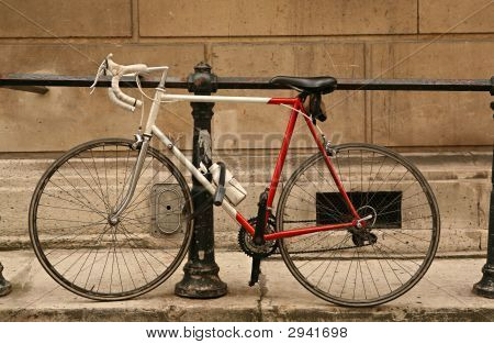 Bicycle In City Street