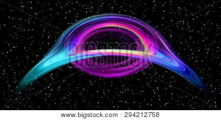 Black Hole Realistic Star Time Trap. Destruction Universe Funnel. Oval Apocalypse. Death Of Space. H