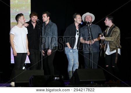 LAS VEGAS - APR 5: King Calaway attends the ACM Stories, Songs & Stars at the Marquee Ballroom at the MGM Grand Hotel & Casino on April 5, 2019 in Las Vegas, Nevada.