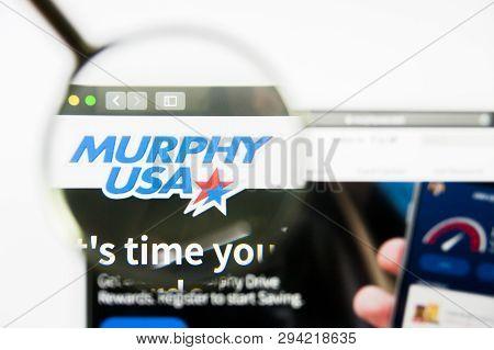 Los Angeles, California, Usa - 8 April 2019: Illustrative Editorial Of Murphy Usa Website Homepage.