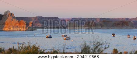 Panoramic view of Lake Powell recreation area