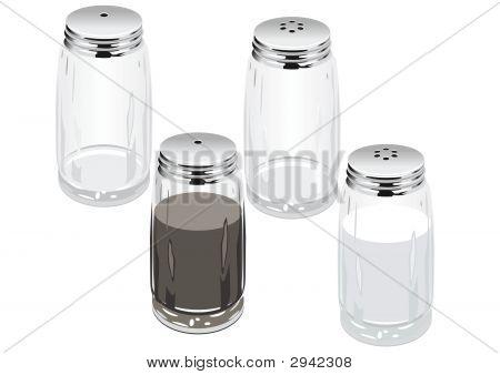 Vector Salt & Pepper Shakers