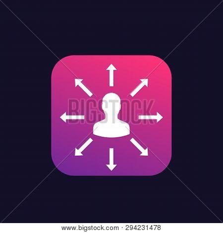 Delegation, Management Vector Icon, Eps 10 File, Easy To Edit