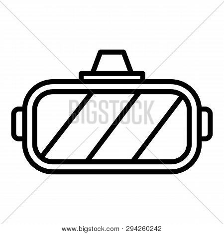 Virtual Reality Helmet Icon. Outline Virtual Reality Helmet Vector Icon For Web Design Isolated On W