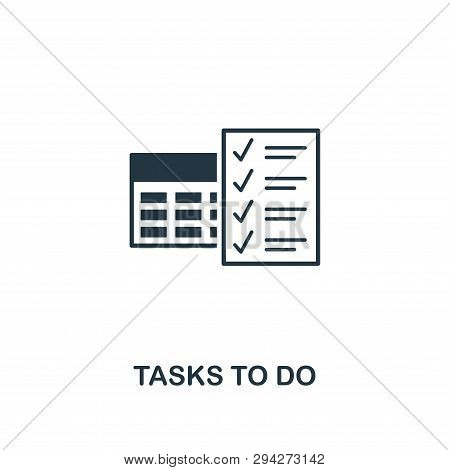 Tasks To Do Icon. Creative Element Design From Productivity Icons Collection. Pixel Perfect Tasks To