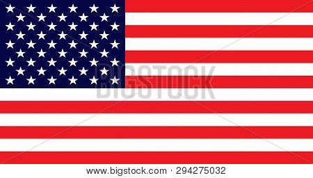 American Flag With Good Colors On Light Lime Color Background. Usa Flag Vector Eps10. Usa Flag. Amer