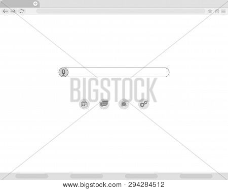 Simple Browser Window, Flat Vector. Browser Window Flat Vector Icon Window Internet Browser. Simple,