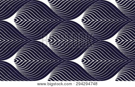 Geometric Seamless Pattern, Abstract Tiling Background, Vector Repeat Endless Illustration. Roof Til