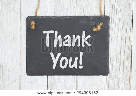 Let Your Customer Know You Appreciate This Business With This Retro Sign, Thank You Text On A Hangin
