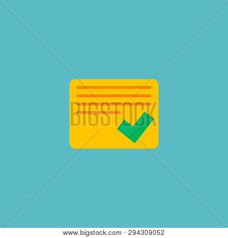 Completed Tasks Icon Flat Element. Vector Illustration Of Completed Tasks Icon Flat Isolated On Clea