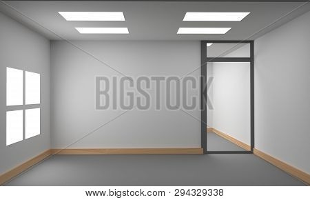 Idea Of A White Empty Scandinavian Room Interior.  Background Interior. Home Nordic Interior. 3d Ill