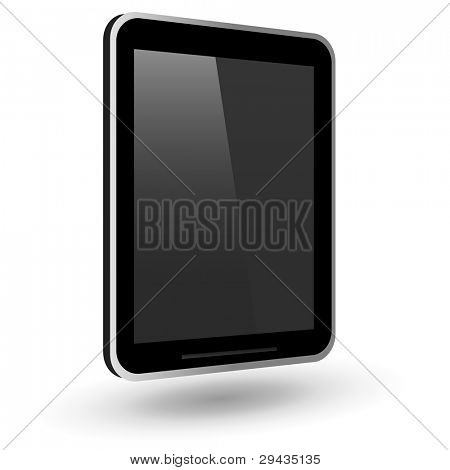Fictitious touch tablet PC. Vector Illustration.