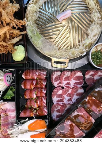 Treaky Barbecue Pork For Grilled Pork Belly And Vegetable, Popular Food Delicious