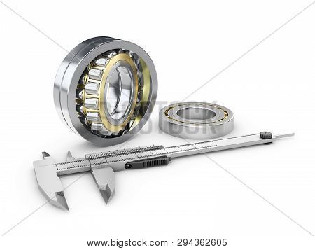 Caliper And Gears, Measuring Gear Caliper, Measuring Instrument Engineer, Architect, Technician 3dr