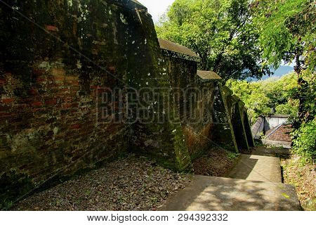 Old Landscape Vie Of Bantul From Stairs Covered By Grass In Behind Tomb Of The Imogiri Kings On Yogy
