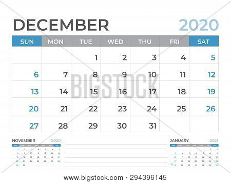 Calendar December 2020.December 2020 Vector Photo Free Trial Bigstock