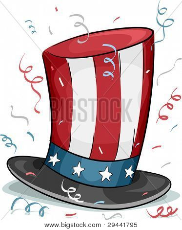 Illustration of a Top Hat Representing US President's Day