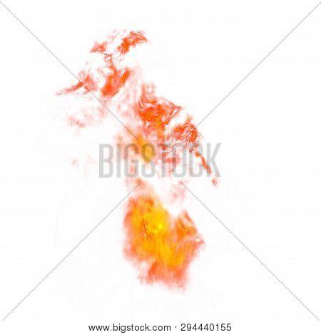 4K Big Explosion Effect White Background, Realistic Explosions Boom, Realistic Fiery Explosion Over