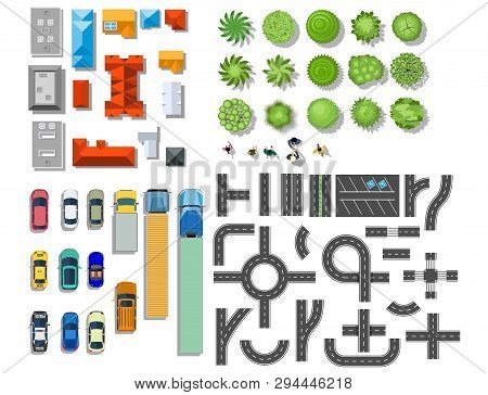 Set Landscape Vector & Photo (Free Trial) | Bigstock