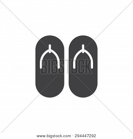 c8c5cc7a662f Beach slippers vector icon. Sandals filled flat sign for mobile concept and web  design. Flip flops glyph icon. Symbol
