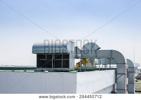 Roof Top Building Air Ventilation Flow System Vent Pipe Fan Hvac.