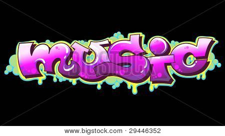 Graffiti Urban Art Vector Illustration. Music poster