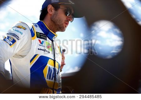 April 05, 2019 - Bristol, Tennessee, USA: Chase Elliott (9) gets ready to practice for the Food City 500 at Bristol Motor Speedway in Bristol, Tennessee.